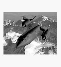 SR-71 Blackbird Flying Photographic Print
