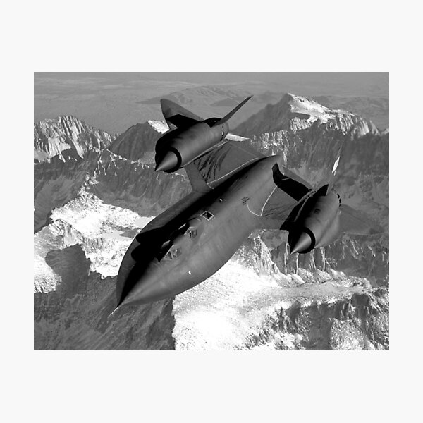 SR-71 Blackbird Flying Photographic Print
