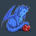 D20 Blue Dragon by Jeff Powers Illustration