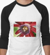 Red and Purple Passion Men's Baseball ¾ T-Shirt