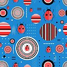 Pattern circles and ladybugs by Tanor