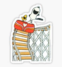 Snoopy and Woodstock Sticker