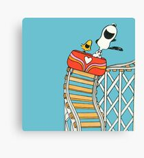 The Peanuts - Snoopy and Woodstock Canvas Print
