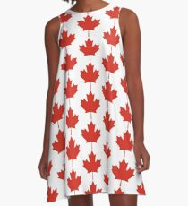 Maple leaf A-Line Dress