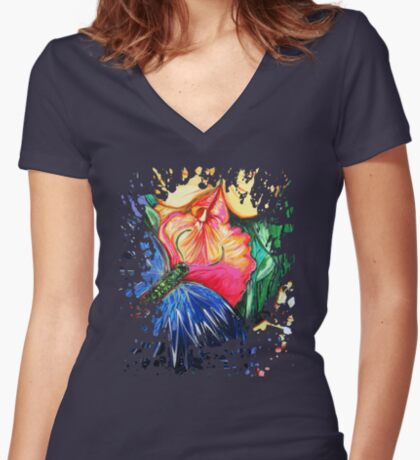 Butterfly Life Women's Fitted V-Neck T-Shirt