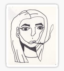 smoking receptionist Sticker