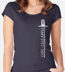 Vimy Memorial Sword Women's Fitted Scoop T-Shirt