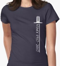 Vimy Memorial Sword Womens Fitted T-Shirt