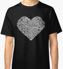 100 positive, optimistic, uplifting, cheerful affirmations and words that form heart shape Classic T-Shirt