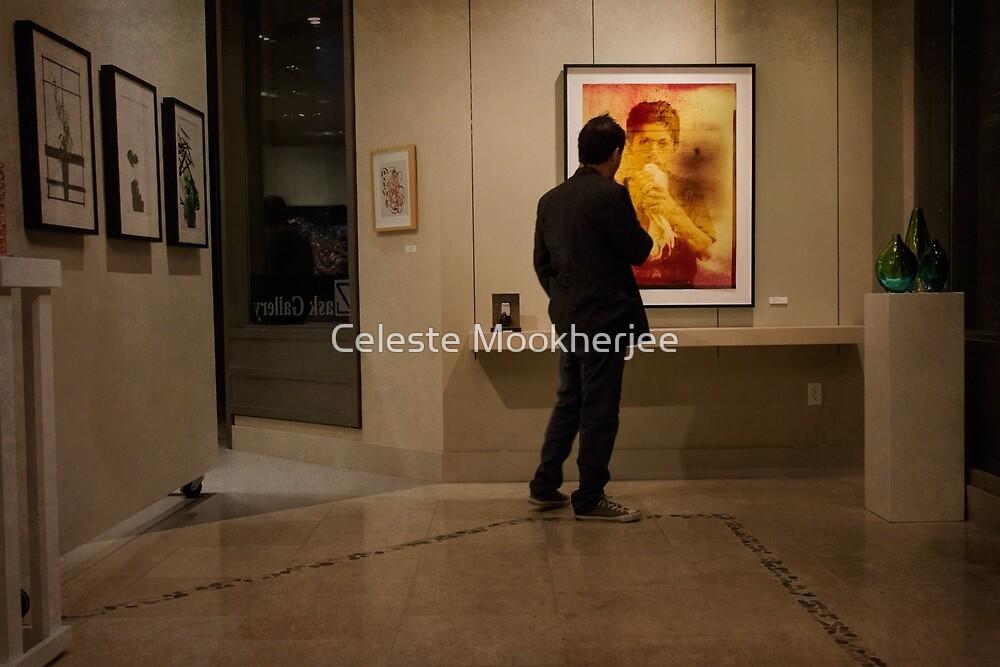 A gallery visitor by Celeste Mookherjee