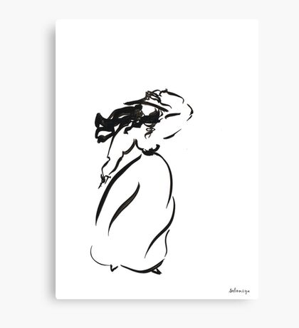 Girl on the wind Canvas Print