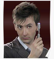 medico ritratto David Tennant Rose Tyler tardis lupo Cattivo Poster