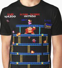 Donkey Kong Rivet Level Graphic T-Shirt