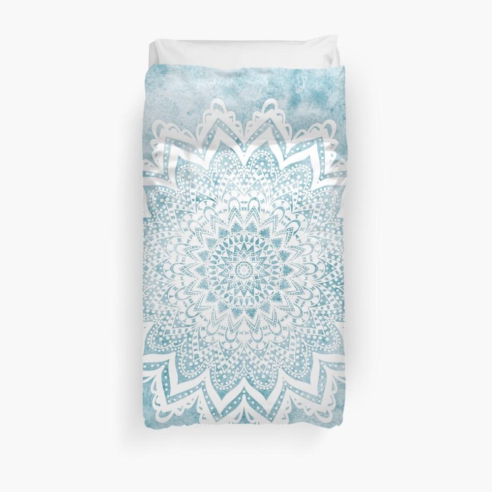 MANDALA SAVANAH LIGHT BLUE Duvet Cover
