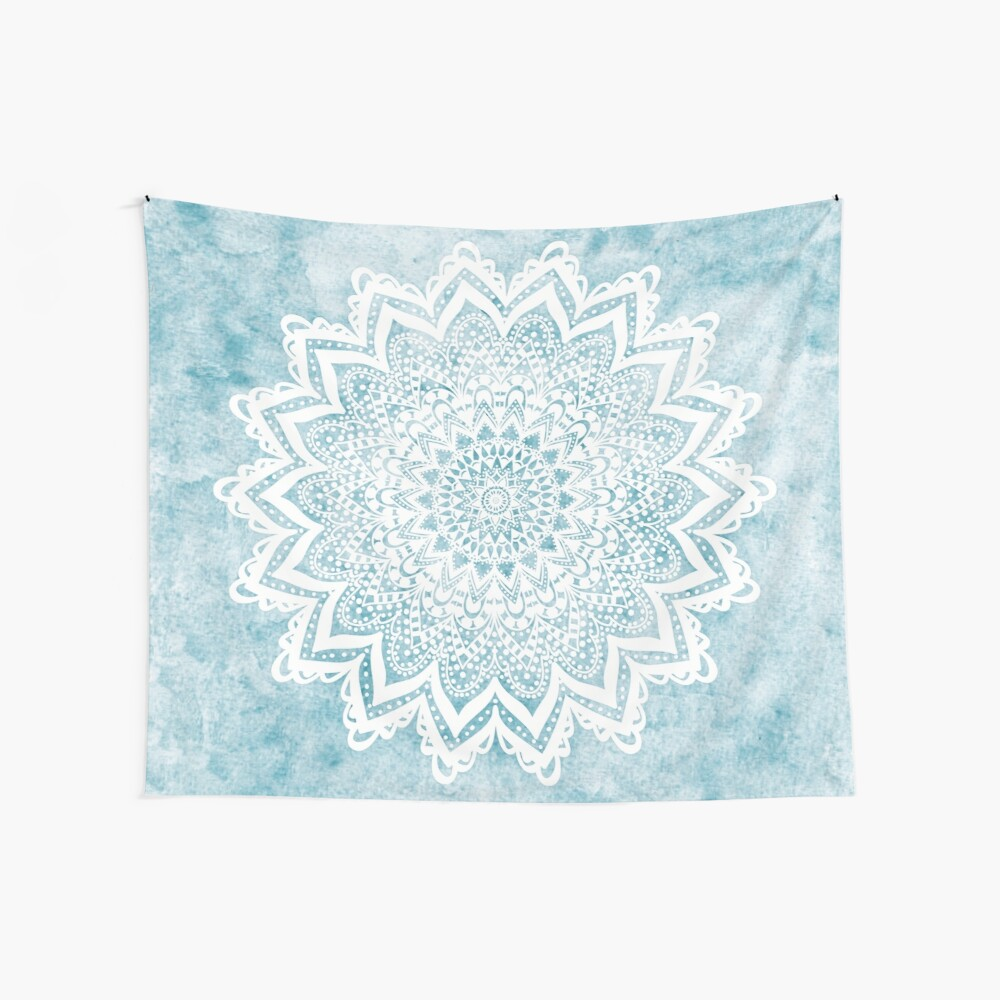 MANDALA SAVANAH LIGHT BLUE Wall Tapestry