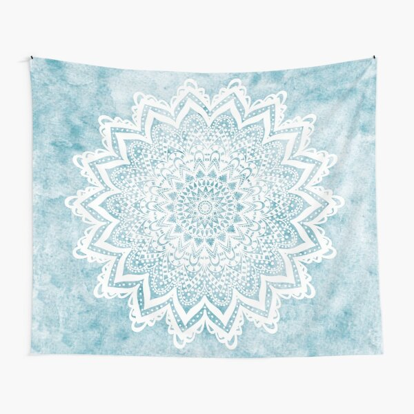 MANDALA SAVANAH LIGHT BLUE Tapestry