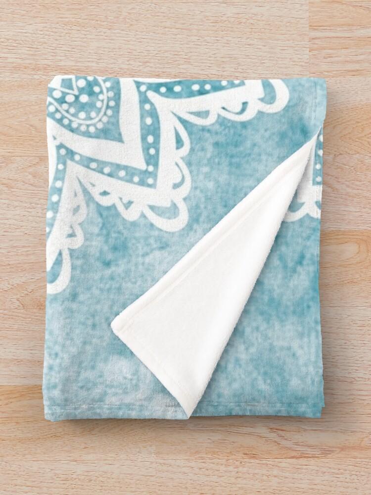 Alternate view of MANDALA SAVANAH LIGHT BLUE Throw Blanket