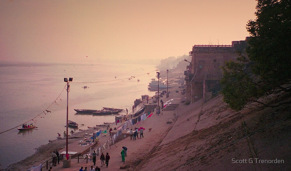 The Holy Shore - Varanasi, India by Scott G Trenorden