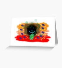 Jungle girl Greeting Card