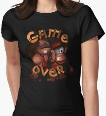 Donkey Kong Game Over Women's Fitted T-Shirt