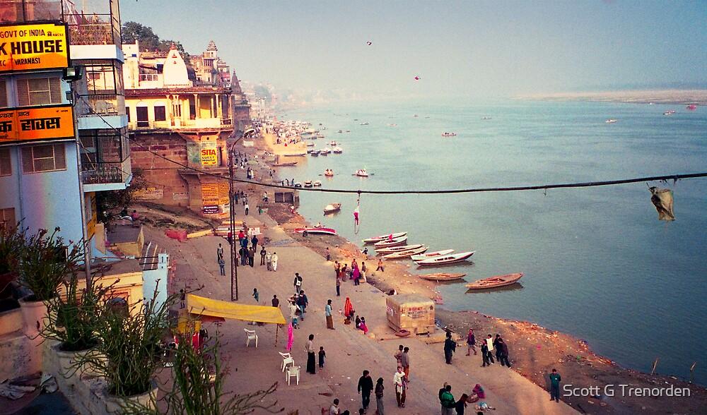 Life on the Ghats of Varanasi - Varanasi, India by Scott G Trenorden