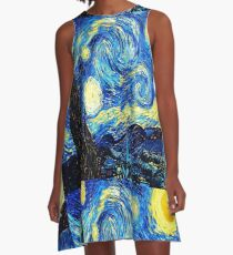 Starry Night - Vincent Van Gogh A-Line Dress