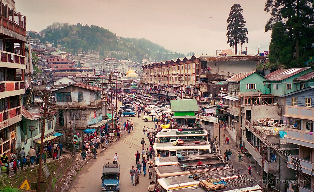 The Snaking Streets of the Cloud City - Gantok city, Sikkim, India by Scott G Trenorden
