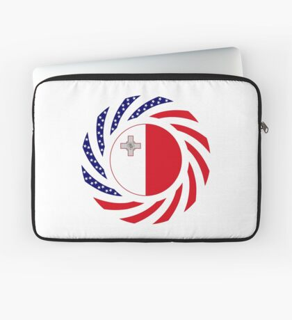 Maltese American Multinational Patriot Flag Series Laptop Sleeve