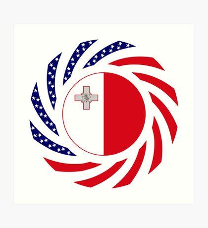 Maltese American Multinational Patriot Flag Series Art Print