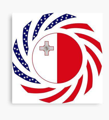 Maltese American Multinational Patriot Flag Series Canvas Print