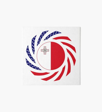 Maltese American Multinational Patriot Flag Series Art Board Print
