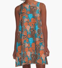 Autumn owls A-Line Dress