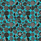 Black on blue by Ekaterina Panova