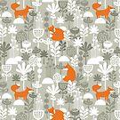 Fox in winter forest by Ekaterina Panova