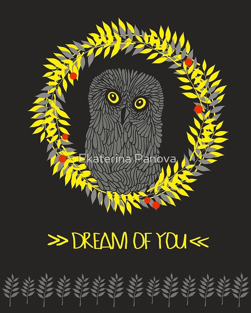 Dreaming owl by Ekaterina Panova