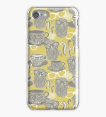 Tea owl yellow iPhone Case/Skin