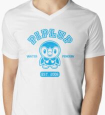 Piplup - College Style Men's V-Neck T-Shirt