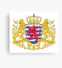 Luxembourg Coat of Arms Canvas Print