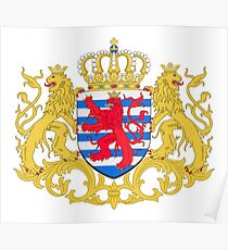 Luxembourg Coat of Arms Poster