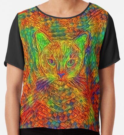 Cat Chiffon Top