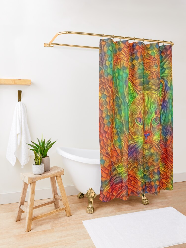 Alternate view of Cat Shower Curtain