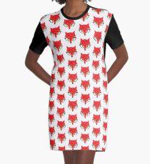 Hipster fox Graphic T-Shirt Dress