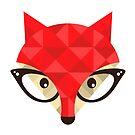 Hipster fox by Ekaterina Panova