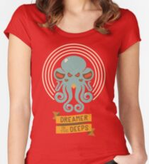 Cthulhu, Dreamer in the Deeps Women's Fitted Scoop T-Shirt
