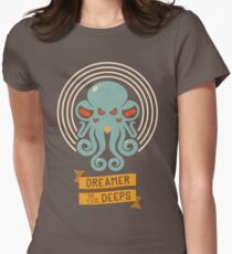 Cthulhu, Dreamer in the Deeps Women's Fitted T-Shirt