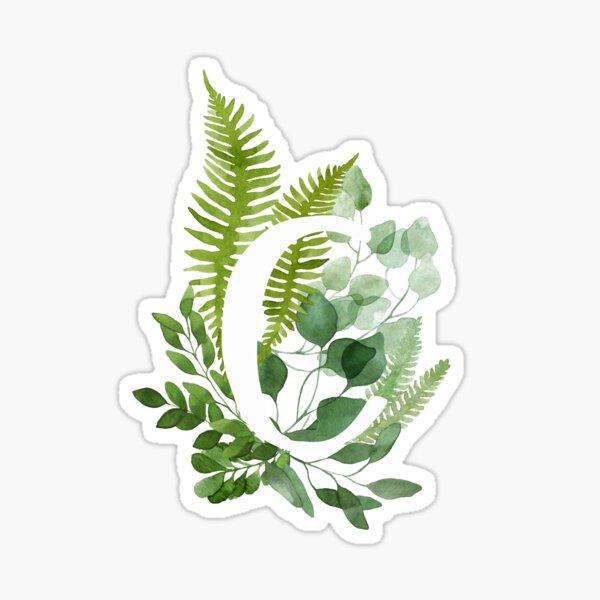 Floral letter C Sticker