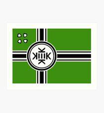 Offizielle Flagge von Kekistan Kunstdruck