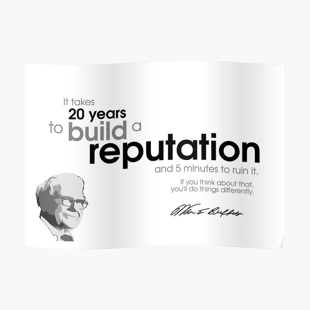 20 Jahre Ruf - warren buffett Poster