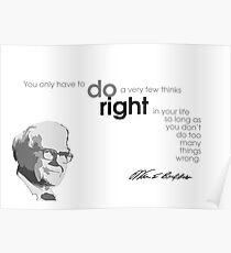 do right - warren buffett Poster