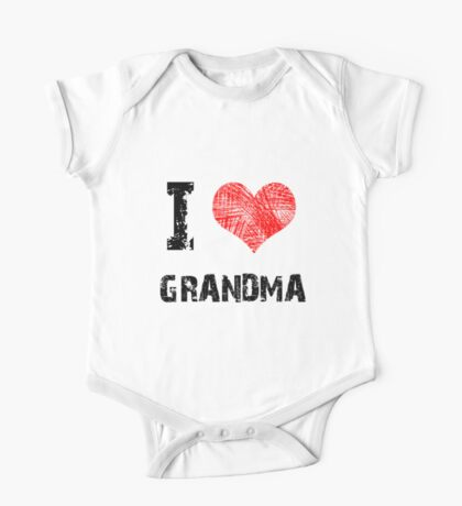 I love Grandma Kids Clothes